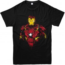 Iron Man Distressed Kids T-shirt