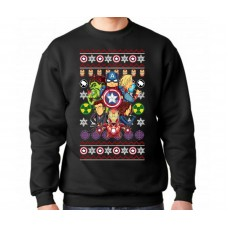 Iron Man Captain America Avengers Kids Christmas Jumper