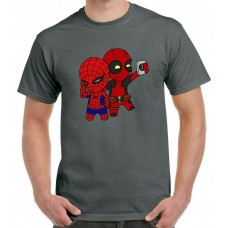 Deadpool Spider-Man Selfie T-Shirt